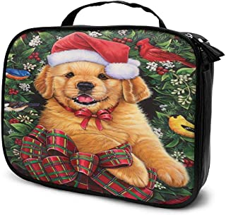 Cosmetic Bag Red Christmas Dog Travel Makeup Bag Anti-wrinkle Cosmetic Case Multi-functional Storage Bag Large Capacity Makeup Brush Bags Travel Kit Organizer Women's Travel Bags