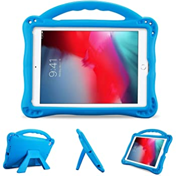 ProCase Custodia Bambini per iPad 9.7 2018/2017, iPad Pro 9.7 2016, iPad Air 2/Air 1, Rigida Custodia Protettiva Antiurto con Kickstand per iPad 6a/5a/Air/Air2/iPad Pro 9.7 2016 -Blu Marino
