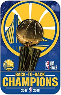 Golden State Warriors 2018 Champions WC 11x17 Plastic Wall Parking Sign
