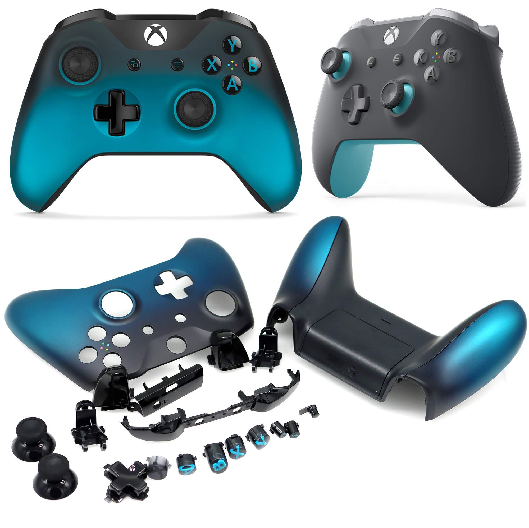 Deal4GO - Carcasa de Repuesto para Mando inalámbrico de Xbox One, Modelo 1708 Ocean Shadow Special Edition: Amazon.es: Electrónica