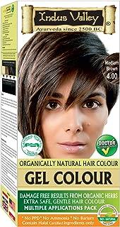 Indus Valley Natural Herbal Permanent Gel Medium Brown 4.0 Hair Coloring Kit