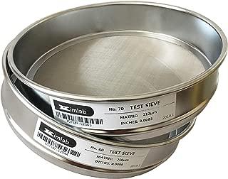 KimLab Economy Test Sieve #70 / 212μm Mesh Size,304 Stainless Steel Wire Cloth, 8