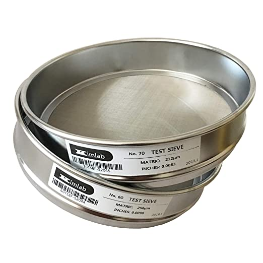 KimLab SS10 /Φ10cm Test Sieve #80 180/μm Mesh Size,304 Stainless Steel Wire Cloth and Frame,4 Diameter