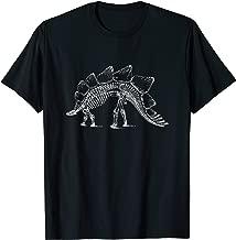 Stegosaurus Dinosaur Skeleton T-Shirt Fossil Dino Bones Tee