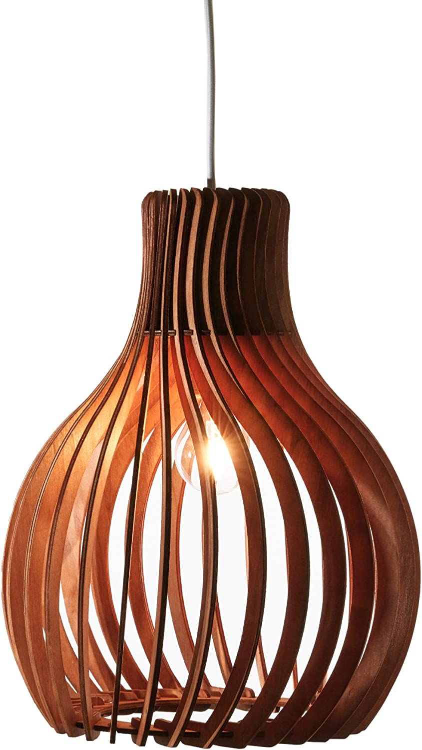 Opis PL2 - Brown Wood Pendant Ranking TOP15 lamp Made store of P Out Elegant Curved