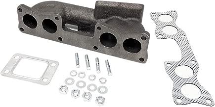 Rev9 MF-069 Cast Iron Turbo Manifold, uses T3 or T3T4 Hybrid Turbo, Bolt On, compatible with Nissan 240SX KA24E SOHC Motor Engine