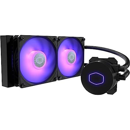 Cooler Master MasterLiquid ML240L V2 RGB - Refroidisseur Liquide pour CPU, Effets d'Éclairage plus Brillants, Pompe 3ème Génération, Radiateur Supérieur et 2 x 120 mm Ventilateurs SickleFlow Avancés