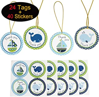 favours party bag unisex x18 personalised baby shower stickers thank you