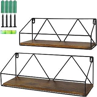 PETAFLOP Wall Mount Shelf Rustic Wood Floating Shelves Storage for Kitchen Living Room..