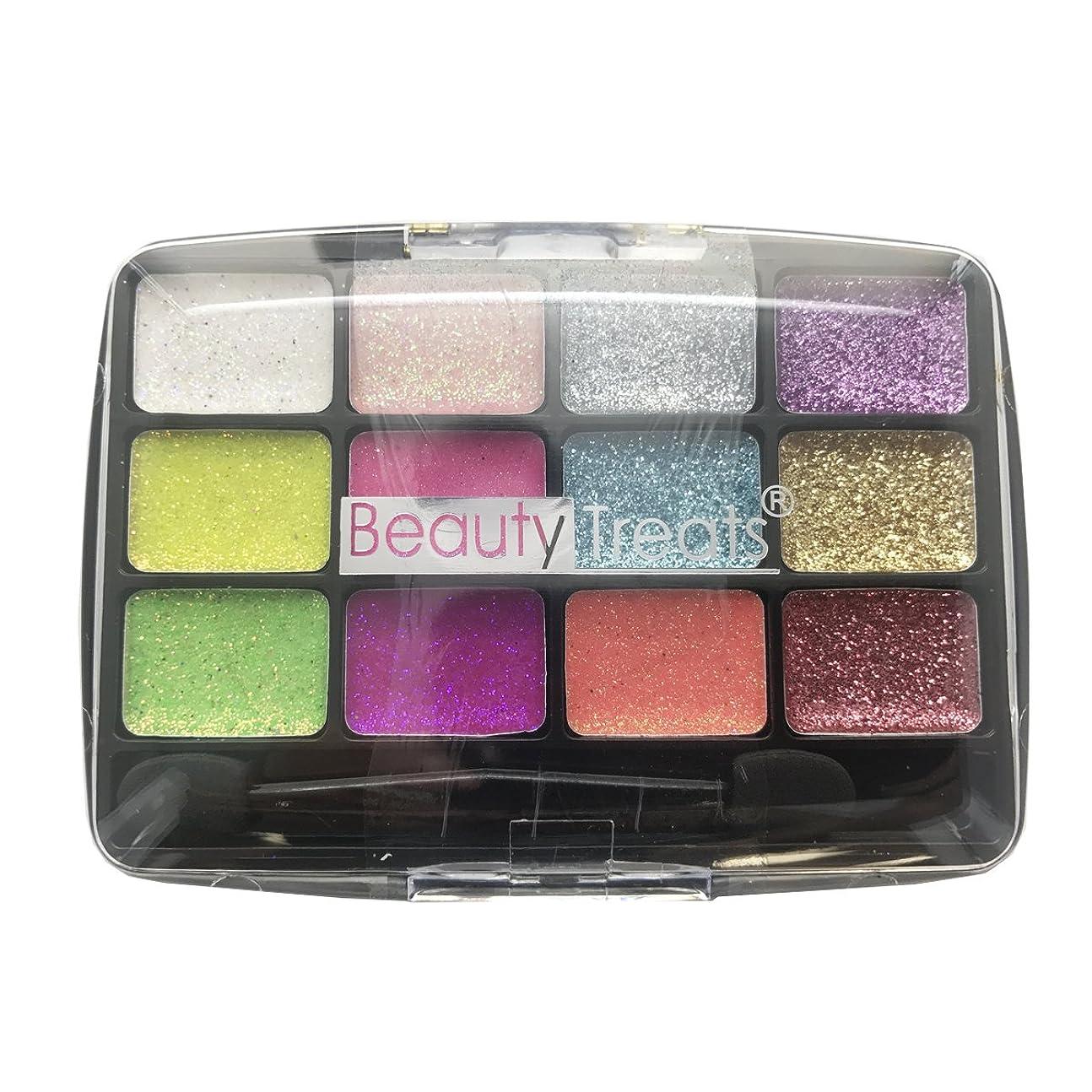 当社うまくやる()承認する(6 Pack) BEAUTY TREATS 12 Colors Glitter Palette - Confetti (並行輸入品)