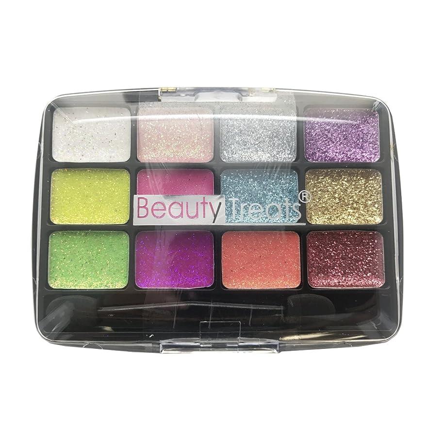 注ぎます助言競争(6 Pack) BEAUTY TREATS 12 Colors Glitter Palette - Confetti (並行輸入品)