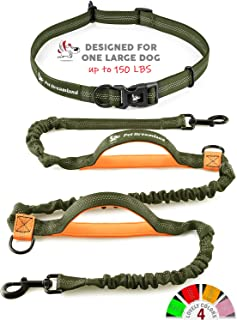 Pet Dreamland Hands Free Leash for Dog Walking - Medium to Large Dogs (up to 150lbs) - Shock Absorbing Bungee Dog Leashes - Reflective Waist Dog Running Leash