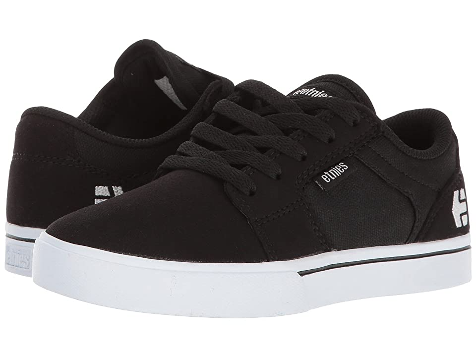 etnies Kids Barge LS (Toddler/Little Kid/Big Kid) (Black/White) Boys Shoes