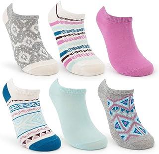 Sof Sole (6 Pairs) Women's Cool All Sport Socks For Women Ankle Socks Women No Show Non Slip Athletic Low Cut Socks