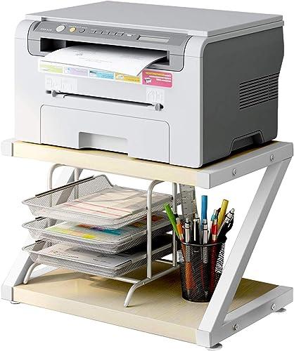 Desktop Stand for Printer - Desktop Shelf with Anti - Skid Pads for Space Organizer as Storage Shelf, Book Shelf, Dou...
