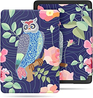 VORI Case for All-New Kindle Paperwhite (10th Generation, 2018 Release), Water-Safe Protective Smart Cover with Auto Sleep/Wake for Amazon Kindle Paperwhite 2018 EReader, Owl