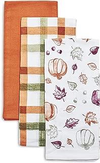 Sur La Table Fall Flour Sack Kitchen Towels, Set of 3