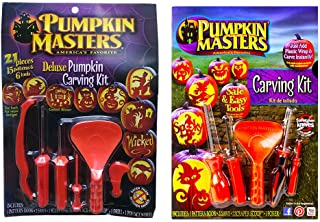 013 Pumpkin Masters Deluxe Carving Kit - 2 pc Set (0625)