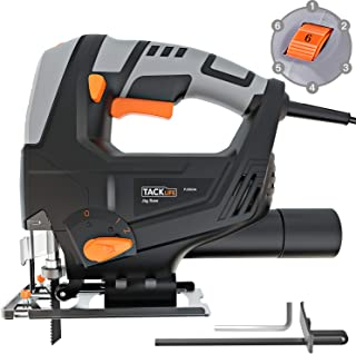 TACKLIFE Classic 5.0 Amp 3000SPM Jigsaw, Variable Speed, Tool-free Blade Changing, Lightweight Design, 10 Feet Cord, Pure Copper Motor, Ideal for Beginners - PJS03A