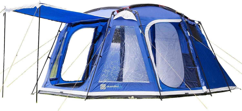meilleure tente 6 places Skandika Saturn skandika Copenhagen 6-Person Tent, Blue, 400 x 460 cm