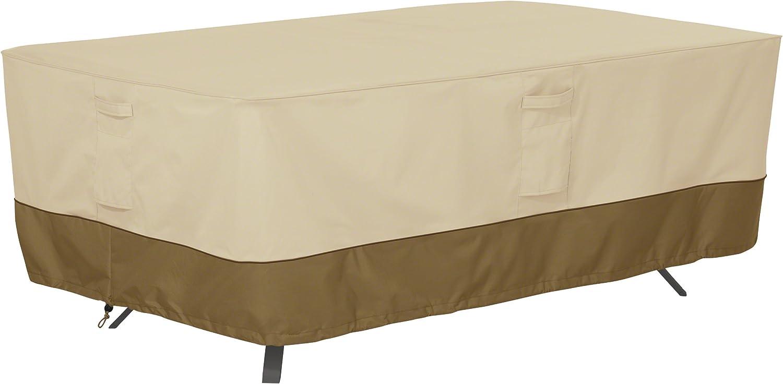 Classic Accessories Veranda Water-Resistant 84 Inch Rectangular/Oval Patio Table Cover : Patio, Lawn & Garden