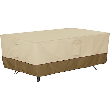 Amazon Com Classic Accessories Veranda Water Resistant 72 Inch Rectangular Oval Patio Table Cover Garden Outdoor