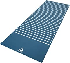 Reebok Double Sided Yoga Mat, Stripes/Blue - 4 mm