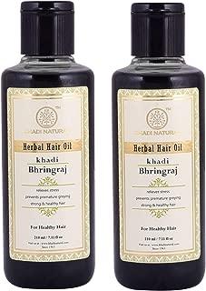 Khadi Natural Bhringraj Hair Oil, 210Ml (Pack Of 2)