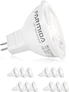(12 Pack) Parmida LED MR16 Bulb, GU5.3 Base, Dimmable, 7W (50W Equivalent), 5000K (Day Light), 500lm, Spot Light Bulb, Energy Star, UL-Listed, 40° Beam Angle, 12V AC/DC, Track Lighting, Spotlight