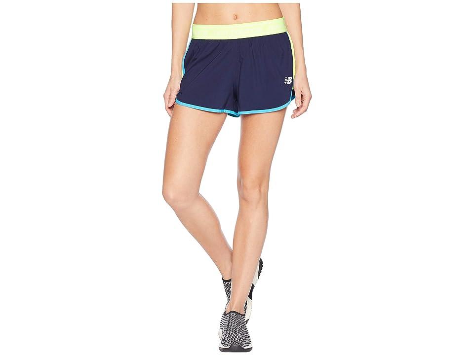 New Balance Accelerate 2.5 Shorts (Hi-Lite/Pigment/Polaris) Women