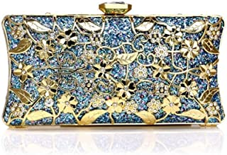 Redland Art Women's Fashion Sparkly Clutch Bag Wristlet Evening Handbag Catching Purse Bag for Wedding Party (Color : Blue)