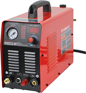 Pilot arc plasma cutter 110/220v Dual Voltage HEROCUT CUT50DP Inverter Air Plasma Cutter IGBT 14mm Clean Cut In 70psi 16mm Servance Cut (CUT50DP)