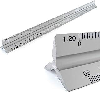 Règles Aluminium Echelle règle triangulaire échelle triangulaire 1: 20, 1: 25, 1: 50, 1: 75, 1: 100, 1: 150, 30 cm de long...