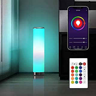 One Products Smart WiFi RGB چراغ گوشه چراغ طبقه ، چراغ های نئونی روشنایی محیط ، چراغ میز تغییر رنگ 16M ، چراغ کنار تخت ، همگام سازی موسیقی ، با Alexa Echo ، دستیار Google (OSHL-001) کار می کند