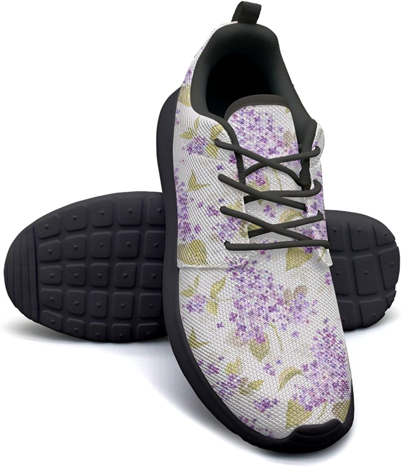 Gjsonmv Wisteria Artificial Flowers Purple mesh Lightweight shoes for Women Cool Sports Basketball Sneakers shoes