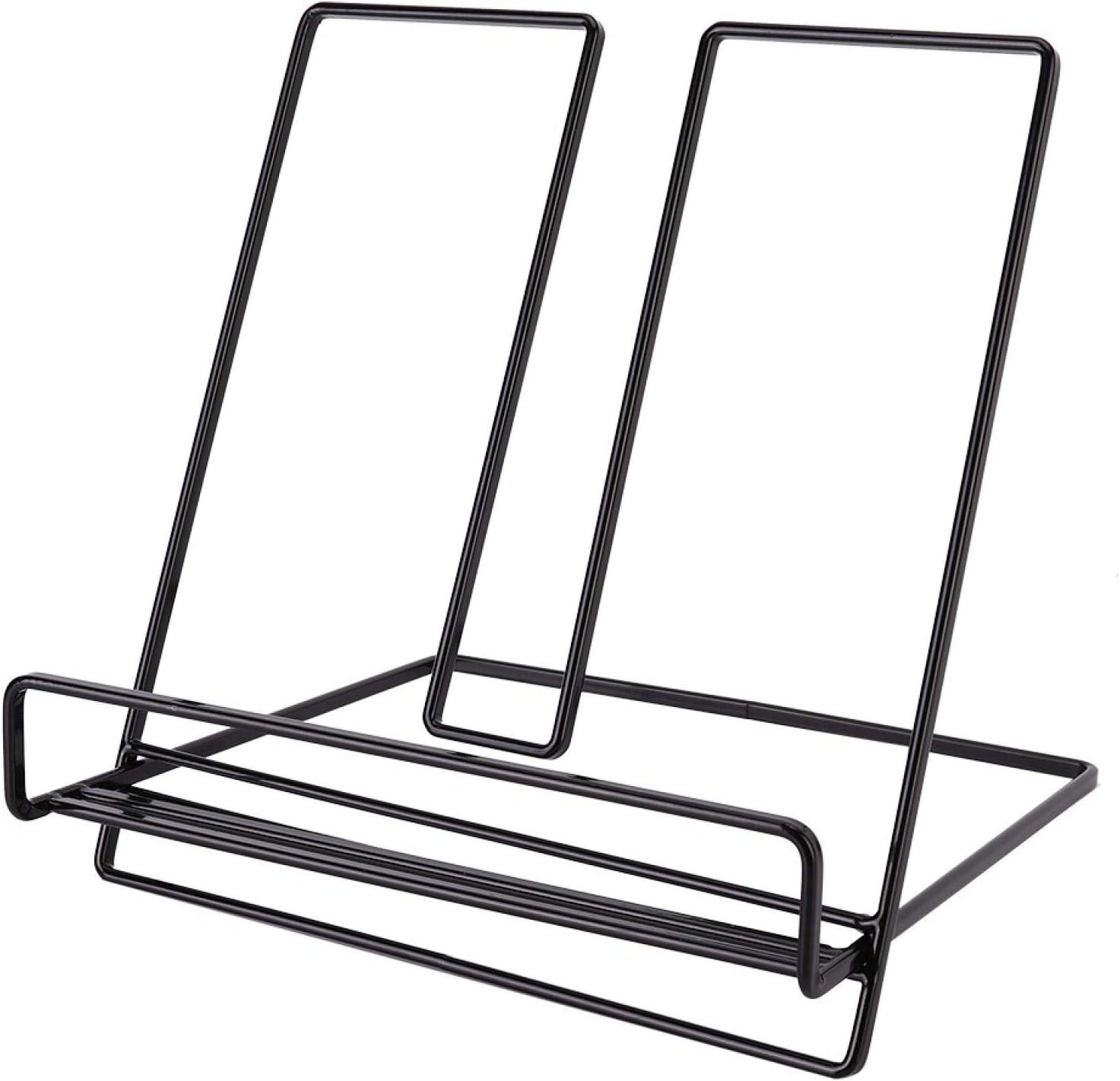 OUKENS Book Rack, Iron Tabletop Book Shelf Rack Tablet Computer