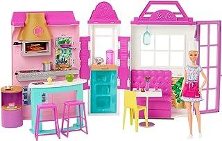 Barbie HBB91 - Zestaw zabawowy Restauracja z lalką i 30+ częściami, prezent dla dzieci, wiek 3+
