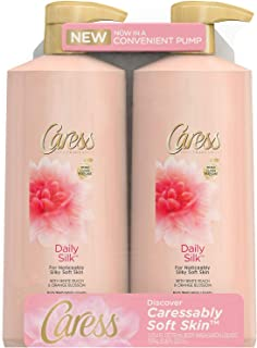 Caress Body Wash with Pump, Daily Silk, 25.4 oz (25.4 Oz, (Count of 2))