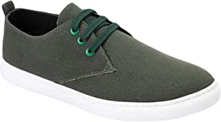 Grinta Canvas Lace-up Sneakers with Pull-Tab for Men