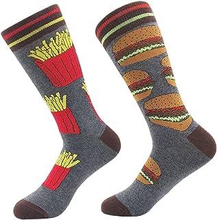 Mens Fun Crew Socks Novelty Crazy Cool Fashion Colorful Cotton Casual Dress Socks