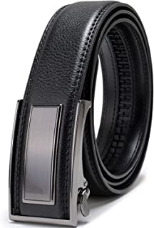 Beltox Fine Men's Dress Leather Ratchet Belt with Nickel-free Automatic Buckle (28-30, black gunmental)