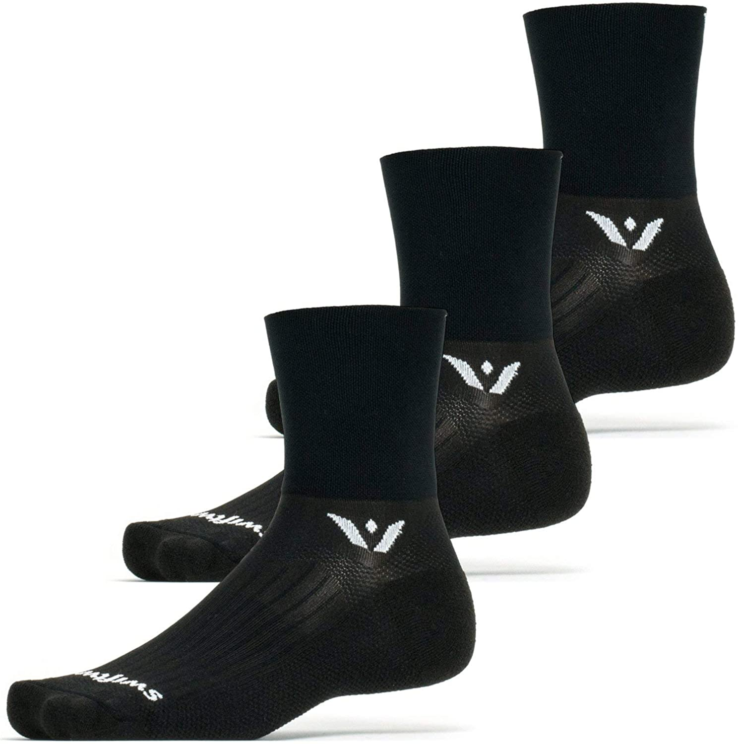 Compression Fit Swiftwick- ASPIRE FOUR Cycling /& Trail Running Socks 3 Pairs