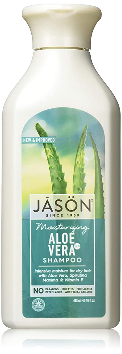 ミトン正確さ副産物Jason Natural Products Aloe Vera Gel Shampoo 84% 473 ml (並行輸入品)