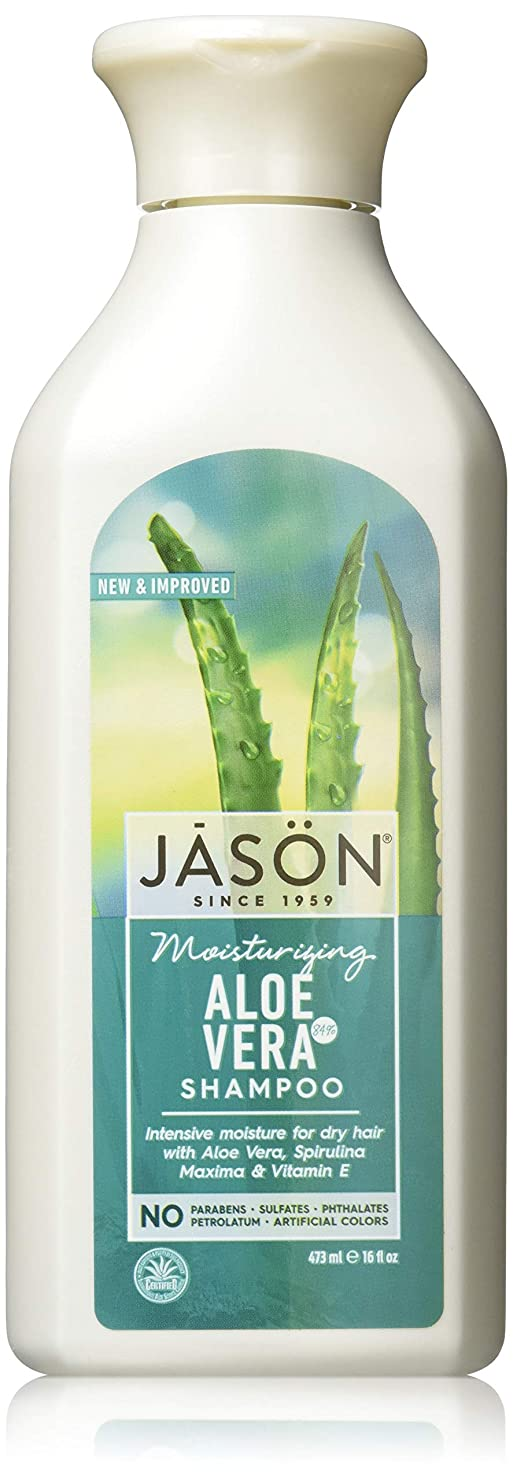 恩赦宣教師重大Jason Natural Products Aloe Vera Gel Shampoo 84% 473 ml (並行輸入品)