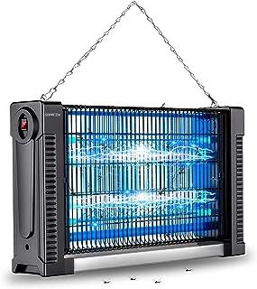 Qxmcov Lámpara Antimosquitos Electrico, 20W UV Lámpara Anti Mosquitos Interior con Caja de Recogida para Mata Mosquitos, I...