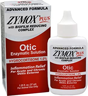 Zymox Plus Otic-HC Advanced Formula Enzymatic Solution 1.25oz Hydrocortisone 1%