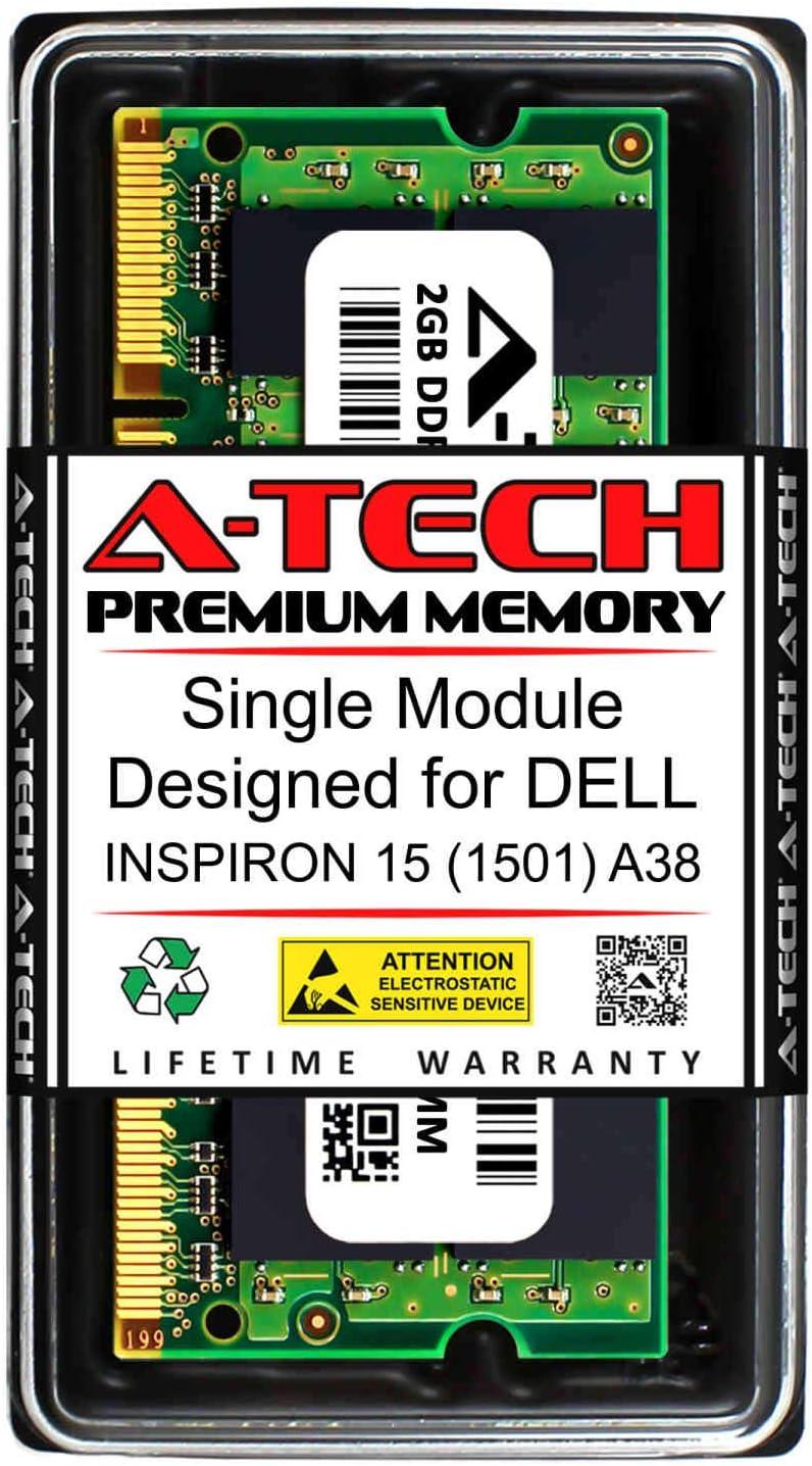 A-Tech 2GB RAM for DELL INSPIRON 15 (1501) A38 | DDR2 800MHz SODIMM PC2-6400 200-Pin Non-ECC Memory Upgrade Module