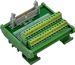 CZH-LABS DIN Rail Mount IDC-30 Male Header Connector Breakout Board Interface Module, IDC Pitch 0.1