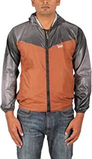 Aashi Men's Polyester Taffeta Wind Cheater Jacket with Hood