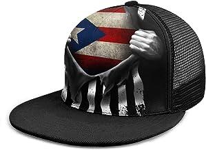 NAA Puerto Rican Flag Vintage Adjustable Denim Hats for Adult Unisex Cute9819